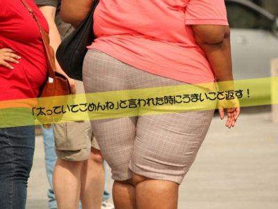 「太っていてごめんね」と言われた時にうまいこと返す